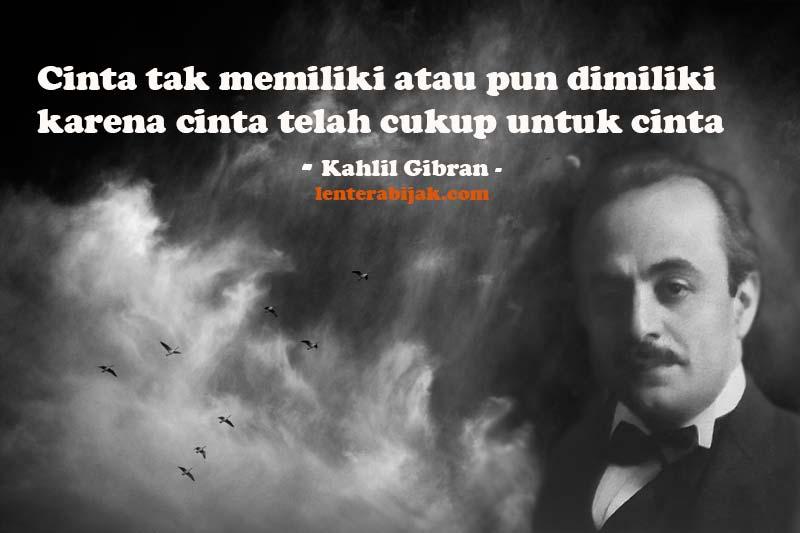 (Quote) Kutipan Cinta Oleh Khalil Gibran