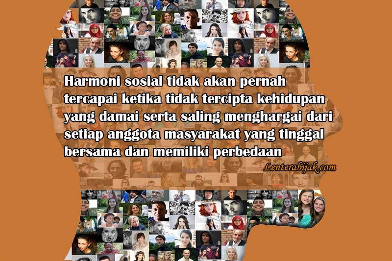 Pengertian Harmoni Sosial Manusia
